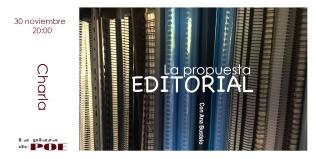 30 de noviembre. CHARLA. La propuesta editorial. el camino hacia el editor. Con Ana Bustelo