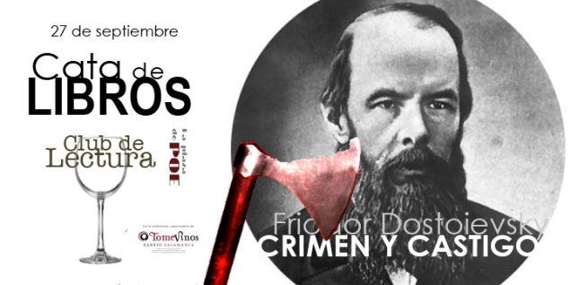 CATA de libros Crimen y castigo. Dostovievsky. 27 de septiembre