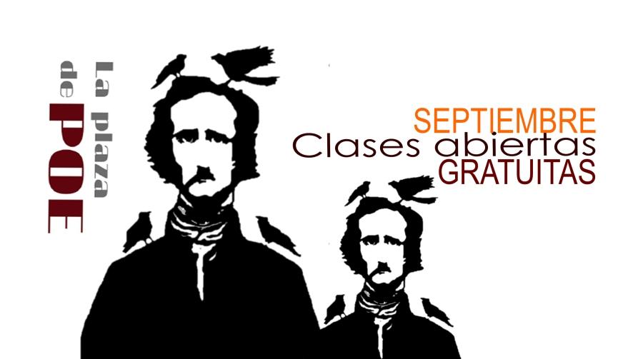 clases abiertas SEPTIEMBRE La plaza de Poe